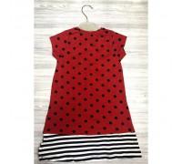 Плаття для дівчинки Bears червое 3857
