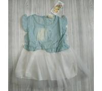 Плаття для дівчинки білий низ 2986