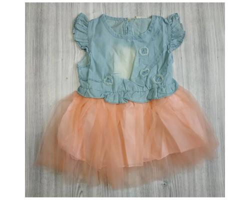 Плаття для дівчинки рожевий низ 2987