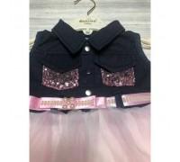 Плаття для дівчинки рожевий низ 3801