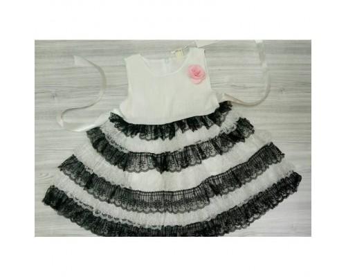 Плаття нарядне біле 3298