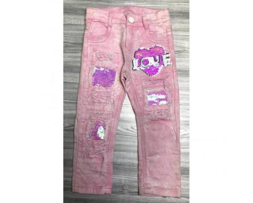 Штанці для дівчинки Love рожеві 3840