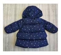 Куртка демі для дівчаток із зірочками синя