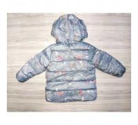 Демісезонна курточка для дівчинки синя 3677