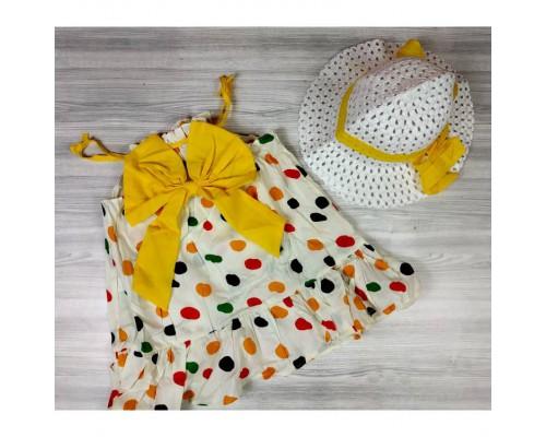 Комплект сукня+капелюшок 4158