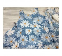 Комплект сукня+капелюшок блакитний 4176