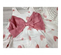 Комплект сукня+капелюшок Hearts рожевий 4142