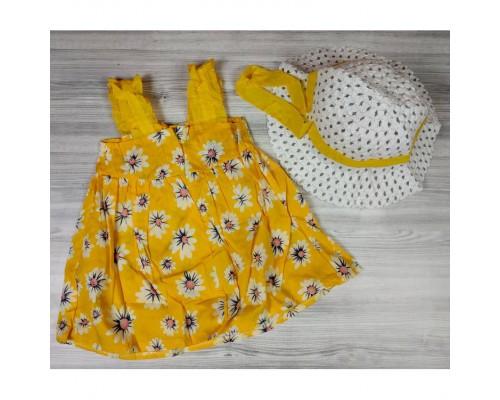 Комплект сукня+капелюшок Ромашка жовтий 4180