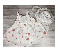 Комплект сукня+капелюшок рожевий 4077