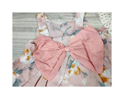 Комплект сукня+капелюшок рожевий 4178