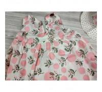 Комплект сукня+капелюшок рожевий 4195