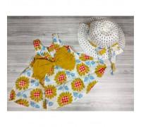 Комплект сукня+капелюшок Соняшник 4197