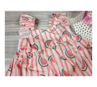 Комплект сукня+капелюшок Watermelon рожевий 4149