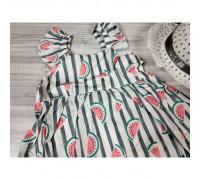 Комплект сукня+капелюшок Watermelon сірий 4150