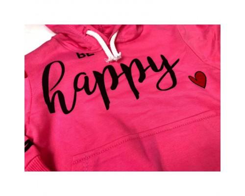 Костюм для дівчинки Be happy темно-рожевий 3878