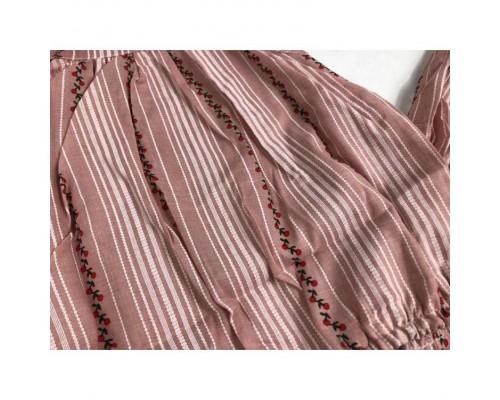 Літній костюм для дівчинка рожевй 3988