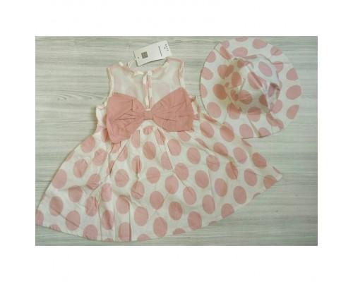 Сукня горох рожева 3242