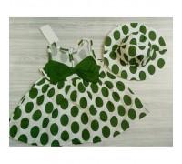 Сукня горох зелена 3243