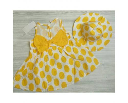 Сукня горох жовта 3245