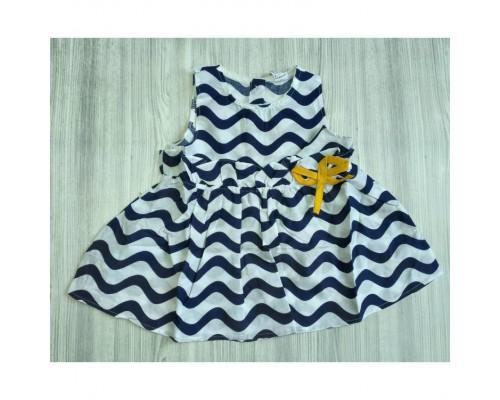 Сукня хвилі синя 2988