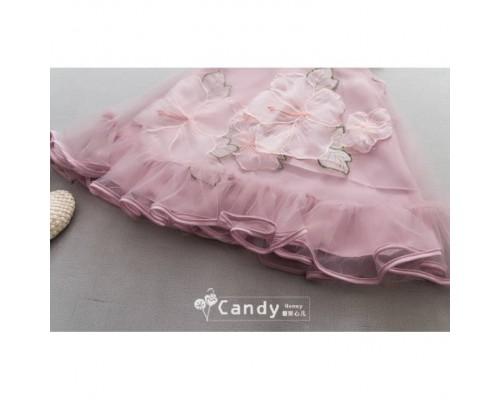 Сукня Квіти рожева 3193