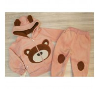 Теплий костюм Ведмедик рожевий 3512