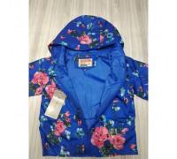 Вітрівка для дівчаток синя квіти 2885