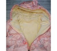 Демісезонна курточка для дівчинки рожева 3678