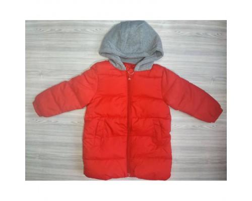 Пальто єврозима червоне 3666