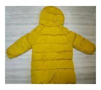 Зимове пальто жовте 3638