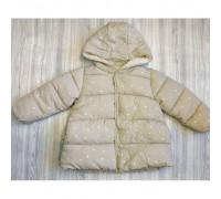 Куртка демі для дівчаток із зірочками бежева