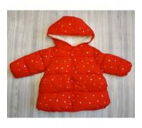 Куртка демі для дівчаток із зірочками червона