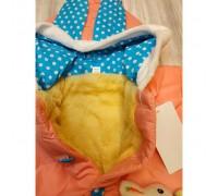 Куртка демі для дівчаток зайчик рожева 2644
