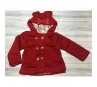 Пальто для дівчинки червоне 3820