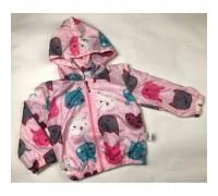 Вітрівка для дівчинки рожева 3973