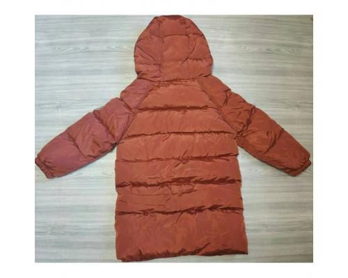 Зимове пальто бордо 3637