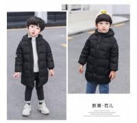 Зимове пальто чорне 3639