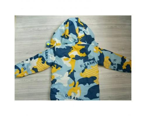 Демісезонна дитяча куртка на флісі жовта 3587