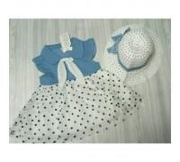 Комплект сукня + капелюшок горох 3416