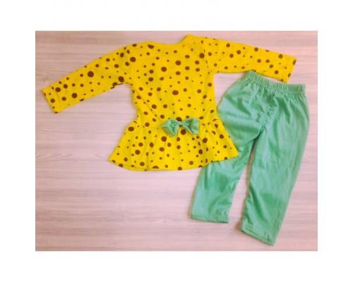Костюм для дівчаток Minnie жовто-зелений