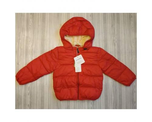 Куртка дитяча демі на хутрі червона