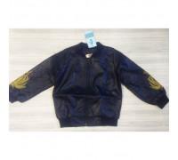 Куртка для хлопчиків PU-шкіра синя 9633