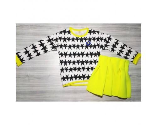 Набір двійка для дівчаток жовтий з білим