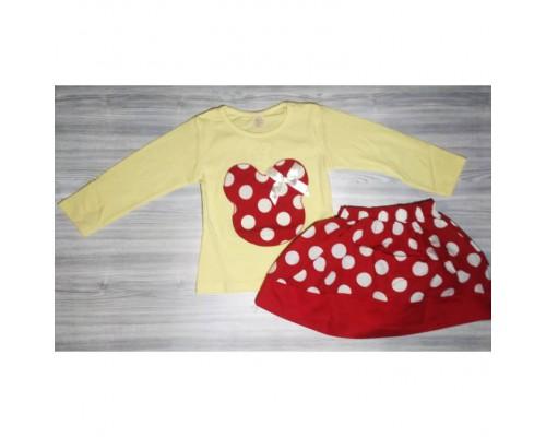 Набір двійка для дівчаток жовтий з червоним