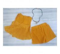 Наборчик літній для дівчаток з бусами жовтий