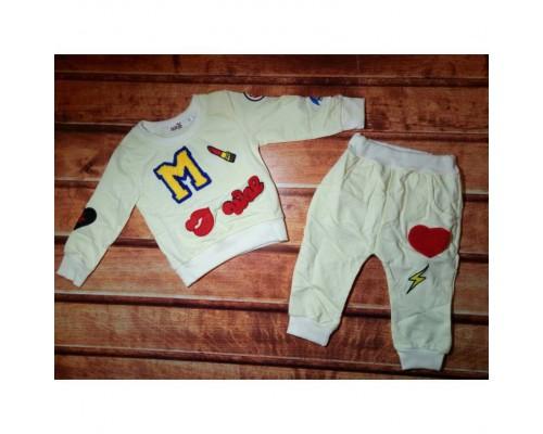Спортивний костюм для дівчаток білий 7713