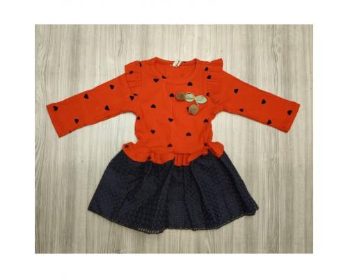 Сукня червона 3662