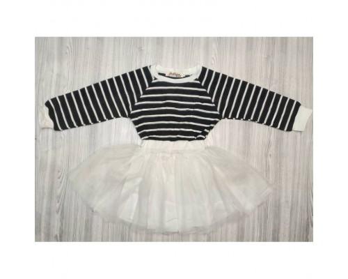 Сукня дитяча біла, чорний верх