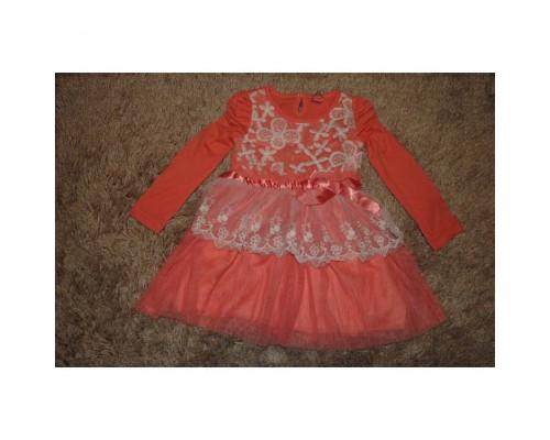 Сукня дитяча червона 7198