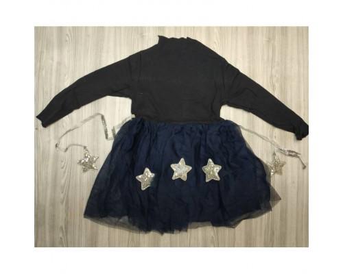 Сукня дитяча із зірочками темно-синя